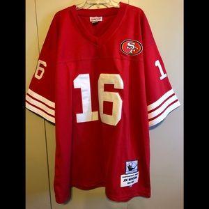 San Francisco 49ers Throwback Joe Montana Jersey
